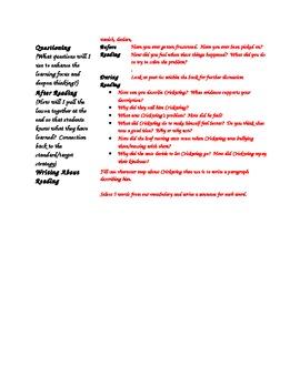 "Interactive Read-Aloud ""Crickwing"""