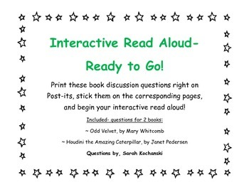 Interactive Read Aloud- Discussion Points on Post-its for TWO Books