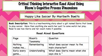 Interactive Read Aloud - Happy Like Soccer by Maribeth Boelts (CCSS)