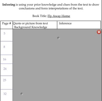 Fly Away Home Inferencing Interactive Read Aloud Lesson Plan w/Notebook File