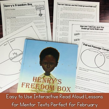 Interactive Read Aloud Lessons & Paired Passages February