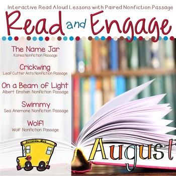 Interactive Read Aloud Lessons & Paired Nonfiction Passages August
