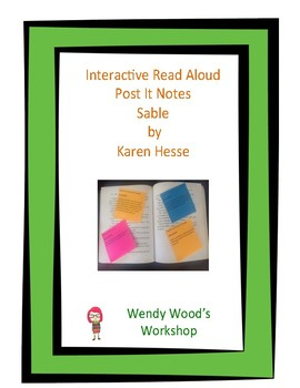 Interactive Read Aloud Post It Notes - Sable by Karen Hesse