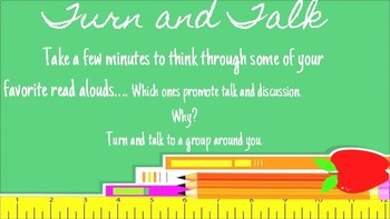Interactive Read Aloud Professional Development Slideshow