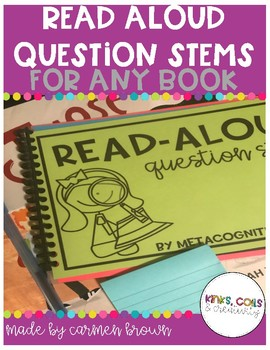 Interactive Read Aloud Question Stems for Any Book