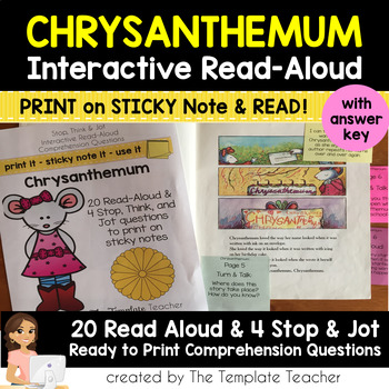Interactive Read Aloud Questions with Chrysanthemum