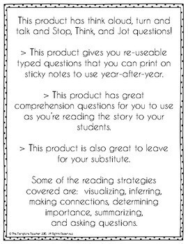 Interactive Read Aloud Questions with Sheila Rae