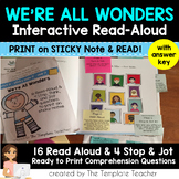 Interactive Read Aloud Questions with We're All Wonders