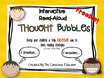 Interactive Read-Aloud Thought Bubbles-Freebie!