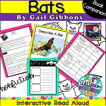 Interactive Read Aloud Weekly plan- Bats by Gail Gibbons (non-fiction)