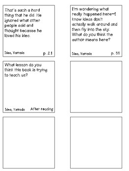 Interactive Read Aloud--What Do You Do With an Idea?