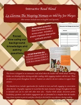 Background Knowledge and Asking Questions- La Llorona (incorporates CCSS)