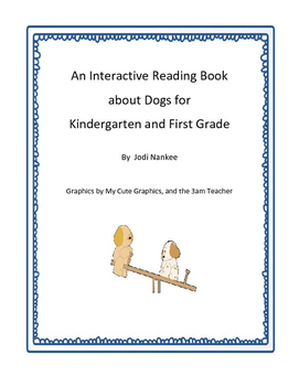 Interactive Reading Book about Dogs for Early Readers