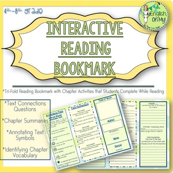Reading Bookmark-Interactive-Text Connections, Chapter Summaries, Annotating