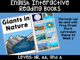 Nature's Giants English Interactive Reading Books Can Be U