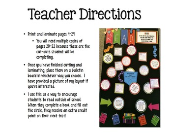 Interactive Reading Bulletin Board: Encourage Students to Read Outside of School
