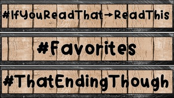Interactive Reading Bulletin Board: Hashtag Headers for Book Categories