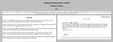 Interactive Reading Comprehension Activities (PC, VLE, Onl