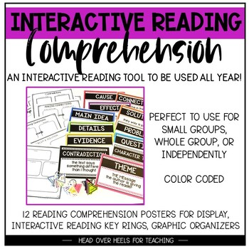 Interactive Reading Comprehension {Key Rings, Posters, Org