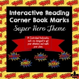 Interactive Reading Corner Book Marks--Super hero Theme