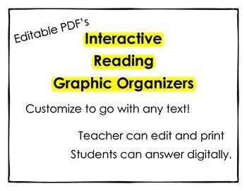 Digital Reading Graphic Organizers