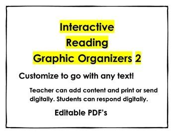 Digital Reading Graphic Organizers 2