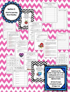Interactive Reading Handbook / Notebook for Student Binders {Grades 3-8}
