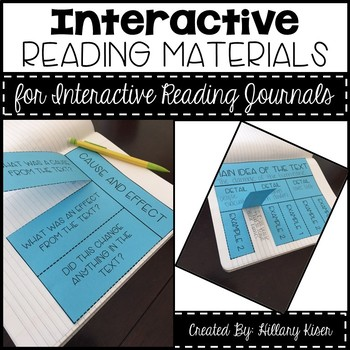 Interactive Reading Journal Materials