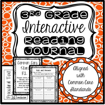 Interactive Reading Journal (3rd Grade-Common Core!)
