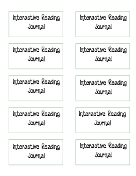 Interactive Reading Journal Labels