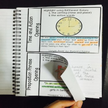 Interactive Notebook Story Starters