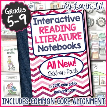 Reading Literature Interactive Notebook 2 ~ ALL NEW Add-On