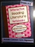 Interactive Reading Literature Notebooks ~ HARD COPY Spiral Bound Notebook