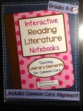 Interactive Reading Literature Notebooks ~ HARD COPY Spiral Bound Notebook