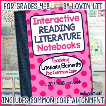 Reading Interactive Notebook: Literature Activities | Literary Elements