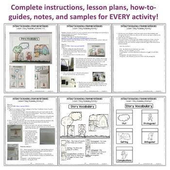 Reading Interactive Notebook: Literature Activities | Literary Elements