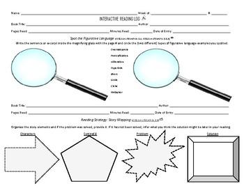 Interactive Reading Log (Reading Response Journal or Literature Circles)