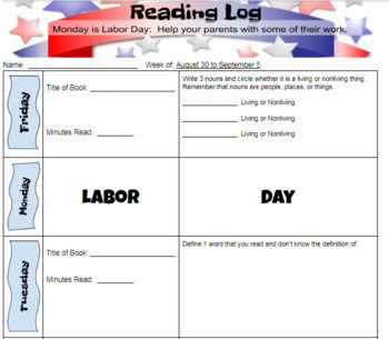 Interactive Reading Log