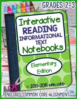 Interactive Reading Notebook Bundle for Grades 2-3: Literature & Informational