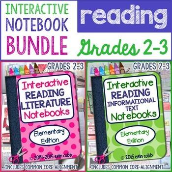 Interactive Reading Notebook Bundle for Grades 2-3: Litera