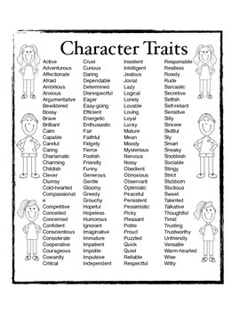 Character Analysis--Interactive Reading Notebook