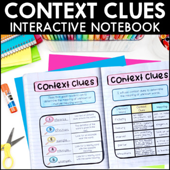 Context Clues - Reading Interactive Notebook