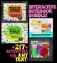 Interactive Reading Notebook Fiction and Nonfiction Mega Bundle