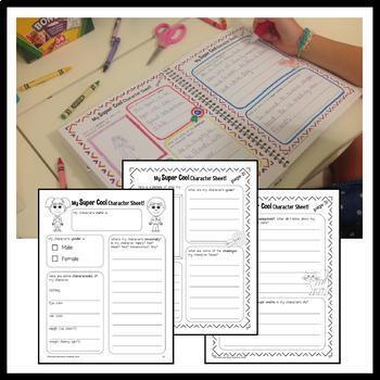 Interactive Reading Notebook Third Grade Common Core with Scaffolded Notes
