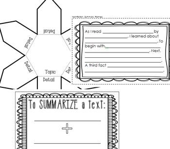 Interactive Reading Notebook: Informational Text Standard 2
