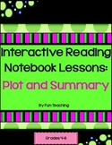 Interactive Reading Notebook Lessons for Fiction: Plot and
