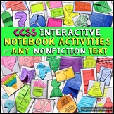 Interactive Reading Notebook Nonfiction Activities Common Core Aligned