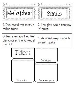 Interactive Reading Notebook: Reading Literature Standard 4
