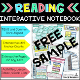 Interactive Reading Notebook Free Sample
