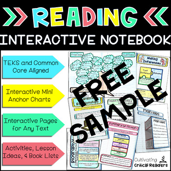 Reading Interactive Notebook Free Sample